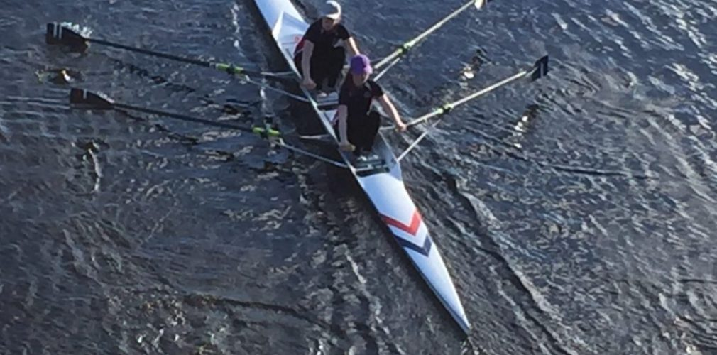 rowing in double